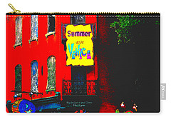 Carry-all Pouch featuring the photograph Venice Cafe' Painted And Edited by Kelly Awad