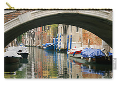 Carry-all Pouch featuring the photograph Venice Canal Boat by Silvia Bruno