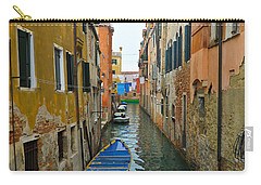 Carry-all Pouch featuring the photograph Venice Canal by Silvia Bruno