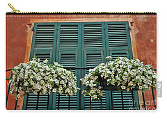 Carry-all Pouch featuring the photograph Venice Flower Balcony 2 by Allen Beatty