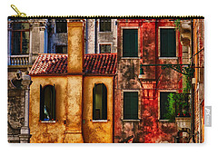 Carry-all Pouch featuring the photograph Venice Homes by Jerry Fornarotto