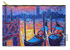 Venice Mysterious Light - Gondolas And San Giorgio Maggiore Seen From Plaza San Marco Carry-all Pouch