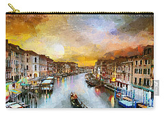 Sunrise In The Beautiful Charming Venice Carry-all Pouch