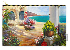 Carry-all Pouch featuring the painting Venice Villa by Jenny Lee