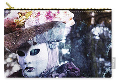 Carry-all Pouch featuring the photograph Venitian Carnival - I Love Mystery by Barbara Orenya