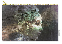 Carry-all Pouch featuring the digital art Venitian Carnival - The Shimmering Lady by Barbara Orenya