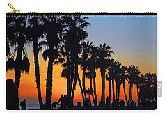 Carry-all Pouch featuring the photograph Ventura Boardwalk Silhouettes by Lynn Bauer
