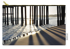Carry-all Pouch featuring the photograph Ventura Pier Shadows by Kyle Hanson