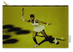 Venus Williams In Action Carry-all Pouch by Brian Reaves