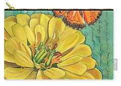 Verdigris Floral 2 Carry-all Pouch by Debbie DeWitt