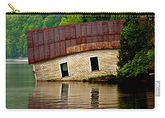 Carry-all Pouch featuring the photograph Vermont Boathouse by John Haldane