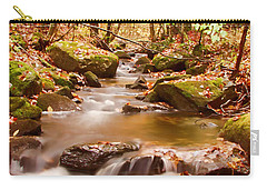 Carry-all Pouch featuring the photograph Vermont Stream by Jeff Folger
