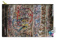 Carry-all Pouch featuring the photograph Verona Italy Locks Of Love by Robin Maria Pedrero