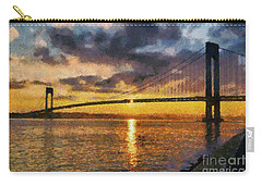 Verrazano Bridge During Sunset Carry-all Pouch