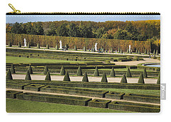 Carry-all Pouch featuring the photograph Versailles Gardens by Glenn DiPaola