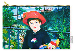 Version Of Renoir's Two Sisters On The Terrace Carry-all Pouch