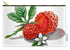 Artz Vitamins A Very Happy Raspberry Carry-all Pouch by Irina Sztukowski