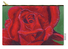 Very Red Rose Carry-all Pouch