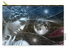Carry-all Pouch featuring the digital art Vestal Moon by Rosa Cobos
