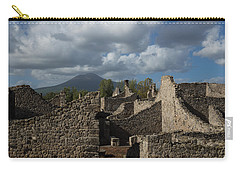 Vesuvius Towering Over The Pompeii Ruins Carry-all Pouch