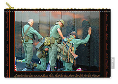 Veterans At Vietnam Wall Carry-all Pouch