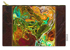 Vibrant Fall Colors An Abstract Painting Carry-all Pouch