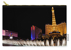 Vibrant Las Vegas - Bellagio's Fountains Paris Bally's And Flamingo Carry-all Pouch