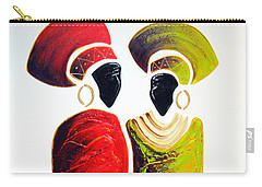 Vibrant Zulu Ladies - Original Artwork Carry-all Pouch