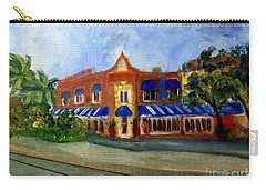 Vic And Angelos In Downtown Delray Beach Carry-all Pouch by Donna Walsh