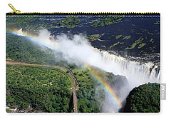 Rainbow Over Victoria Falls  Carry-all Pouch