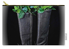 Victorian Black Boots Carry-all Pouch by Jeannie Rhode
