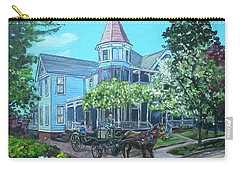 Carry-all Pouch featuring the painting Victorian Greenville by Bryan Bustard