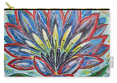 Carry-all Pouch featuring the painting Hawaiian Blossom by Diane Pape