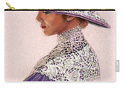 Victorian Lady In Lavender Lace Carry-all Pouch