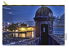 Viejo San Juan En La Noche Carry-all Pouch by Daniel Sheldon