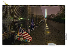 Vietnam Veterans Memorial At Night Carry-all Pouch by Nick Zelinsky