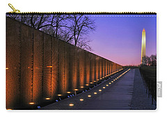 Vietnam Veterans Memorial At Sunset Carry-all Pouch by Pixabay