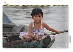 Vietnamese Girl On Lake Tonle Sap Carry-all Pouch