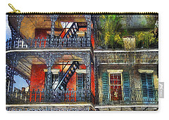 Carry-all Pouch featuring the photograph Vieux Carre' Balconies by Tammy Wetzel