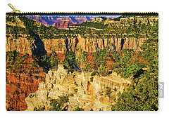 Carry-all Pouch featuring the photograph View From Angel Point  by Bob and Nadine Johnston