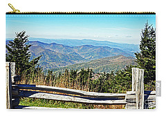 View From Mt. Mitchell Summit Carry-all Pouch by Lydia Holly