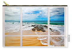 View From My Beach House Window Carry-all Pouch by Kaye Menner