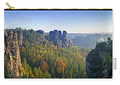 View From The Bastei Bridge In The Saxon Switzerland Carry-all Pouch