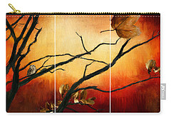 View Of Autumn Carry-all Pouch by Lourry Legarde