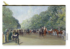 View Of Hyde Park With Figures On Rotten Row  Carry-all Pouch