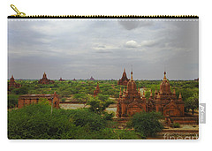 Carry-all Pouch featuring the photograph View Of Smaller Temples Next To Dhammayazika Pagoda Built In 1196 By King Narapatisithu Bagan Burma by Ralph A  Ledergerber-Photography