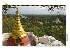 Carry-all Pouch featuring the photograph View Over Ancient City Of Mandalay Aungmyaythazan From Mandalay Hill Mandalay Burma by Ralph A  Ledergerber-Photography