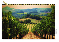 Carry-all Pouch featuring the photograph Vigneto Toscana by Micki Findlay