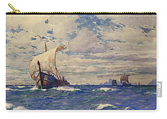 Viking Ships At Sea Carry-all Pouch by Pg Reproductions