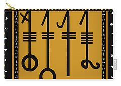 Carry-all Pouch featuring the digital art Viking Sleepthorn Spell by Vagabond Folk Art - Virginia Vivier